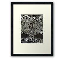 Sukhasana - easy pose Framed Print