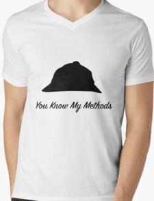 "Sherlock Holmes ""You Know My Methods"" Mens V-Neck T-Shirt"