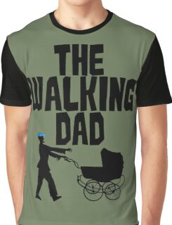 Walking Dad Funny Zombie Graphic T-Shirt