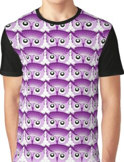 Owl Eyes Abstract Purple Graphic T-Shirt
