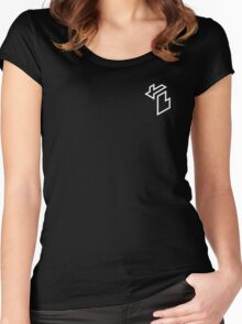 Isometric Michigan (Grey) Women's Fitted Scoop T-Shirt
