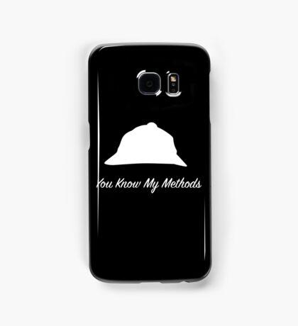 "Sherlock Holmes ""You Know My Methods"" (White) Samsung Galaxy Case/Skin"