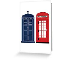 Dr. Who Phone Booth Greeting Card