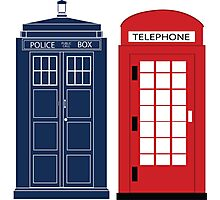 Dr. Who Phone Booth Photographic Print
