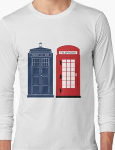 Dr. Who Phone Booth Long Sleeve T-Shirt