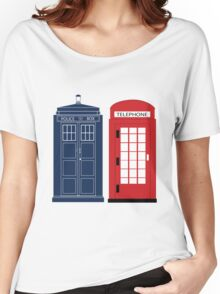 Dr. Who Phone Booth Women's Relaxed Fit T-Shirt