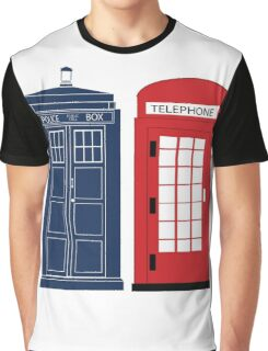 Dr. Who Phone Booth Graphic T-Shirt