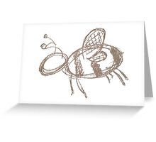 Bee Sketchy Greeting Card