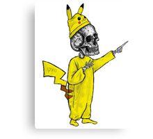 Skull Pikachu Canvas Print