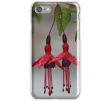 Pair of Fuschia Flowers After the Rain iPhone Case/Skin