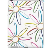 Neon Rings Abstract White iPad Case/Skin