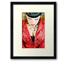 Zen of Red Framed Print