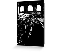 Michigan Central Station Floorboards Greeting Card