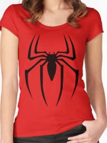 Spiderman Logo Women's Fitted Scoop T-Shirt