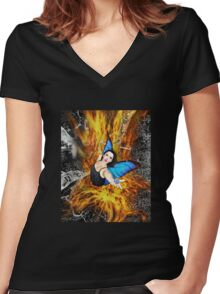 Always with Me, Always with You Women's Fitted V-Neck T-Shirt