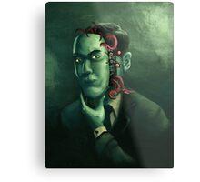 H.P. Lovecraft (w/background) Metal Print