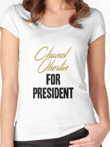 Chanel for Prez! Women's Fitted Scoop T-Shirt