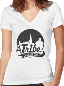 a tribe cq 2 Women's Fitted V-Neck T-Shirt