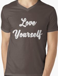 Love yourself Justin Bieber Mens V-Neck T-Shirt