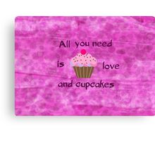 Love and Cupcakes Canvas Print