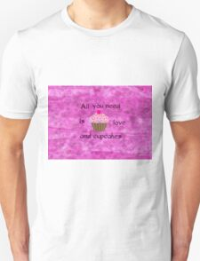 Love and Cupcakes Unisex T-Shirt