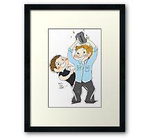 Jensen Ackles & Misha Collins - PCA Framed Print