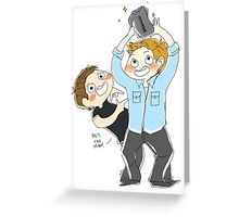 Jensen Ackles & Misha Collins - PCA Greeting Card