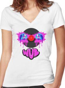Vinyl Scratch Wub Graffiti Women's Fitted V-Neck T-Shirt