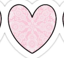 Lace Hearts Sticker