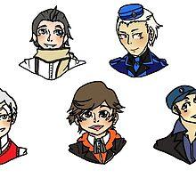 persona 3-boys by kerudiogial