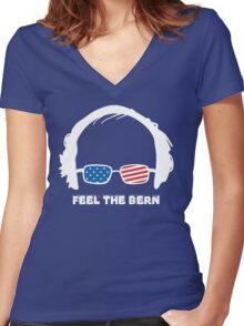 Bernie Sanders T-Shirt Women's Fitted V-Neck T-Shirt