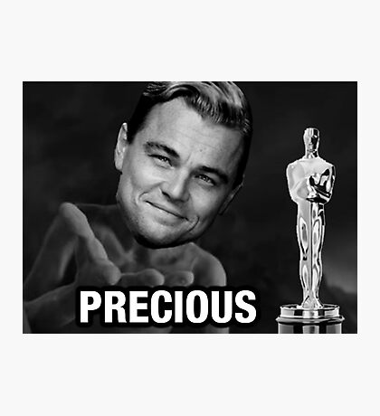 Leonardo reacting to Oscar Photographic Print