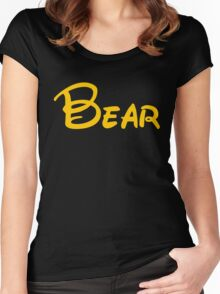 yellow bear Women's Fitted Scoop T-Shirt