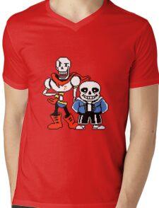 Undertale - Sans and Papyrus Mens V-Neck T-Shirt