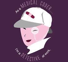 Medical Coder, Detective at Work (white/lightpink) Womens Fitted T-Shirt