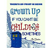 Dr. Who Zentangle Quote Photographic Print