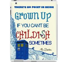 Dr. Who Zentangle Quote iPad Case/Skin