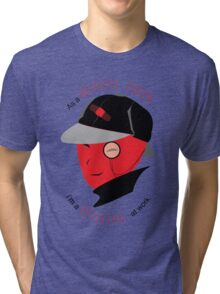 Medical Coder, Detective at Work  (black/red) Tri-blend T-Shirt