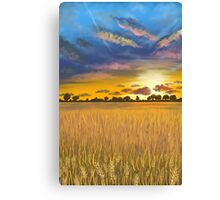 Ukranian sunset beautiful landscape Canvas Print
