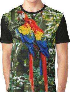 Pair of Parrots Graphic T-Shirt