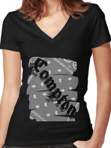Compton Women's Fitted V-Neck T-Shirt
