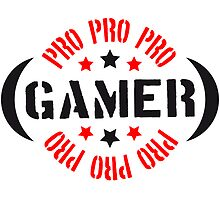 Pro Gamer stamp logo by Style-O-Mat