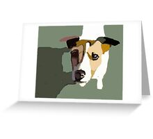 Jack Russel in the sun Greeting Card