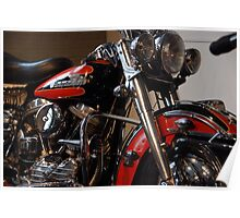 The motorcycle as art: Harley - Davidson FLH (1958) Poster