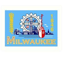 Milwaukee flag Art Print