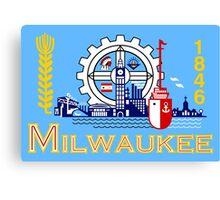 Milwaukee flag Canvas Print