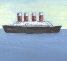 Jack Russell adrift at sea Sticker
