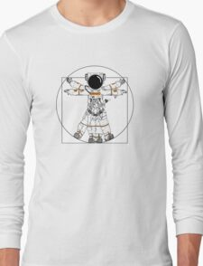 Vitruvian Astronaut Long Sleeve T-Shirt