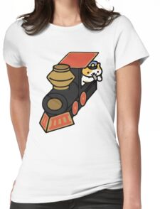 Conductor Whisker - Neko Atsume Womens Fitted T-Shirt