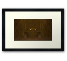 Fire Temple entrance from The Legend of Zelda: Ocarina of Time Framed Print